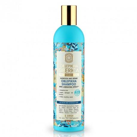 NATURA SIBERICA Rakytníkový šampón pre slabé a poškodené vlasy (400 ml)