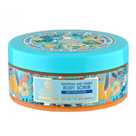NATURA SIBERICA Rakytníkový telový píling s medom (300 ml)