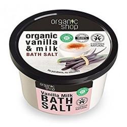 Soľ do kúpeľa Vanilkové mlieko (250 ml), ORGANIC SHOP