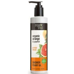 Penivý sprchový olej Citrusová sviežosť (280 ml), ORGANIC SHOP
