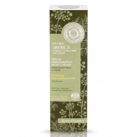 Nočný krém na tvár s aráliou mandžurskou (50 ml), NATURA SIBERICA