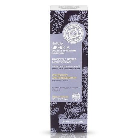 Nočný krém na tvár s rozchodnicou ružovou (50 ml), NATURA SIBERICA
