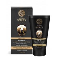 OBJATIE MEDVEĎA Povzbudzujúci čistiaci gél na tvár pre mužov (150 ml), NATURA SIBERICA
