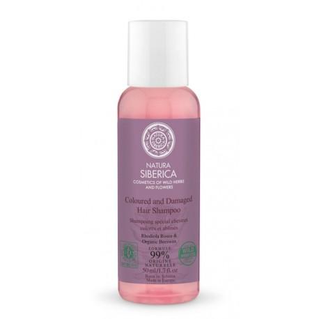 Šampón pre farbené a poškodené vlasy (50 ml) - Cestovné balenie, NATURA SIBERICA